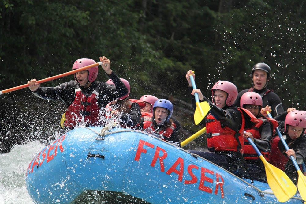 British Columbia Adventure Treks whitewater rafting