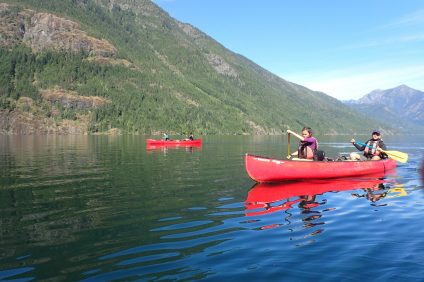Adventure Treks Pacific Northwest Adventure canoeing Ross Lake summer camp