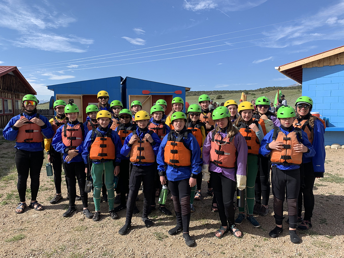 teenagers suited up for whitewater rafting colorado